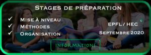 Stages intensifs de préparation epfl et sec